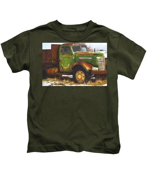 Ford Farm Truck Painterly Impressions Kids T-Shirt