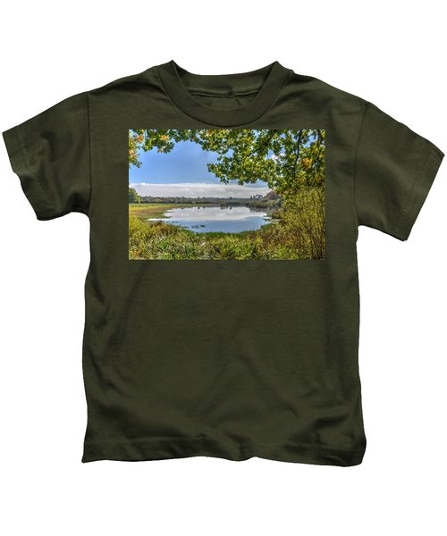Forest Lake Through The Trees Kids T-Shirt