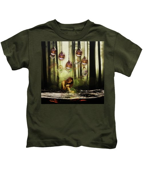 Forest Rain Fantasy Kids T-Shirt