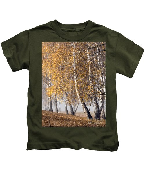 Forest With Birches In The Autumn Kids T-Shirt