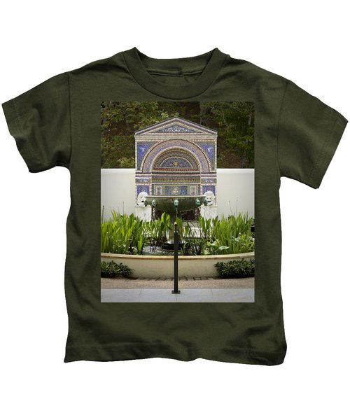 Fountains At The Getty Villa Kids T-Shirt