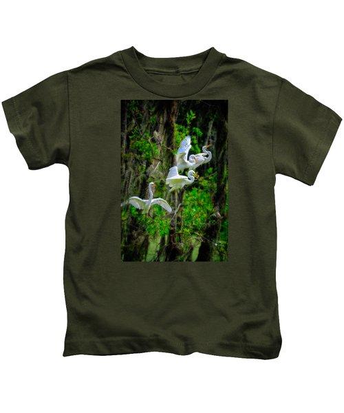 Four Egrets Kids T-Shirt
