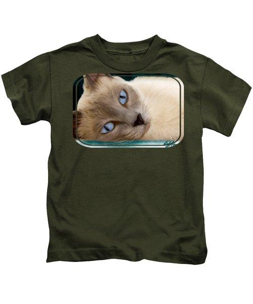 Frankie Blue Eyes Kids T-Shirt