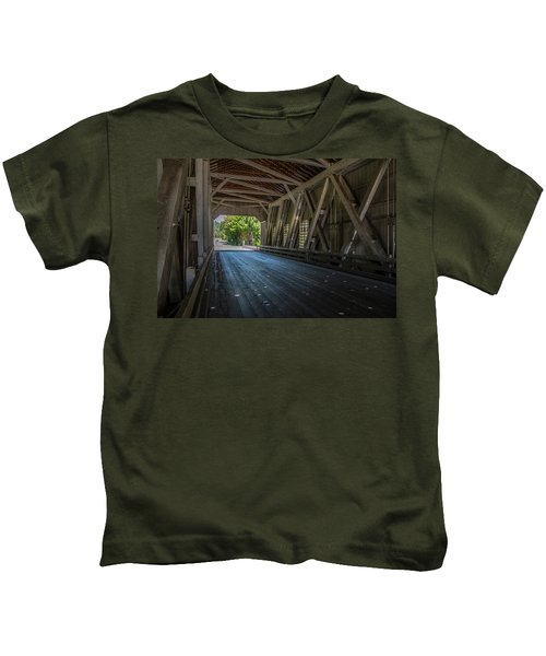 From The Inside Looking Out - Shimanek Bridge Kids T-Shirt