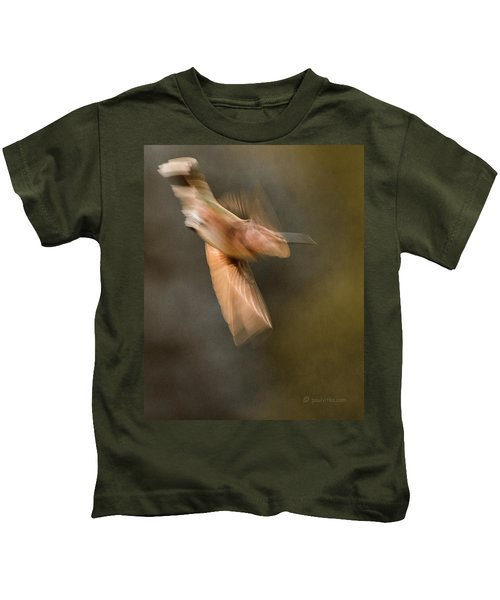 ...frozen Flight Hummingbird.... Kids T-Shirt