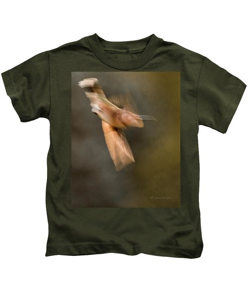 ...frozen Flight Hummingbird.... Kids T-Shirt