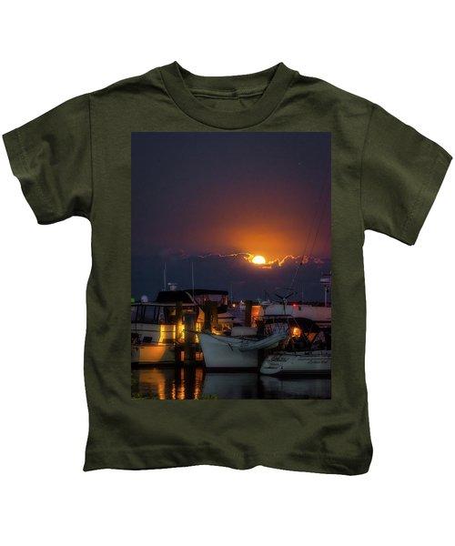 Full Moon At Titusville Kids T-Shirt