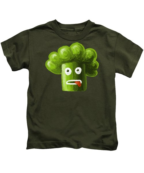 Funny Broccoli Kids T-Shirt
