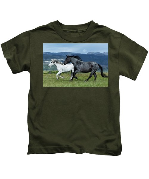 Galloping Through The Scenery Kids T-Shirt