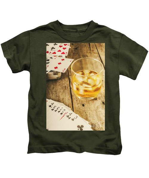 Gamblers Still Life Kids T-Shirt