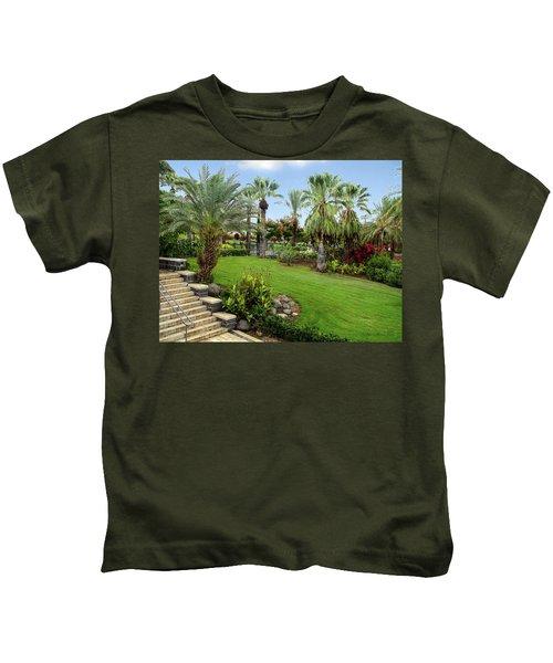Gardens At Mount Of Beatitudes Israel Kids T-Shirt
