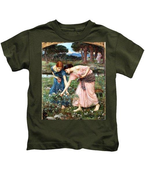 Gather Ye Rosebuds While Ye May Kids T-Shirt