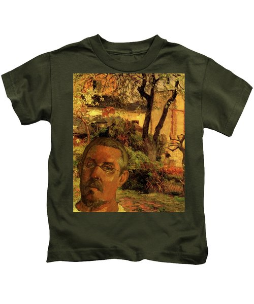Gauguin Study In Orange Kids T-Shirt