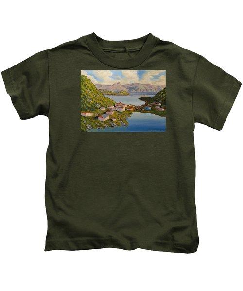 Gaultois Village Newfoundland Kids T-Shirt