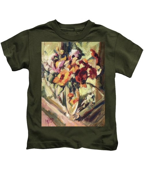 Gerberas In Glass Vase Kids T-Shirt