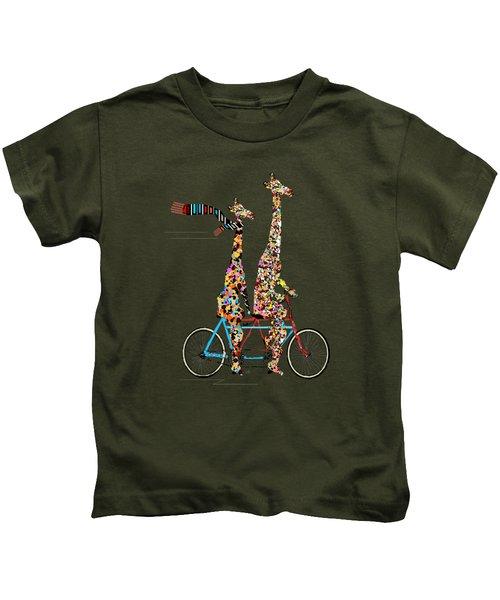Giraffe Days Lets Tandem Kids T-Shirt