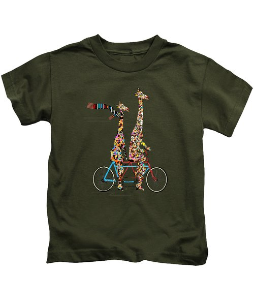 Giraffe Days Lets Tandem Kids T-Shirt