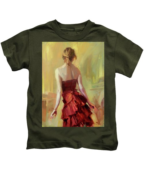 Girl In A Copper Dress I Kids T-Shirt