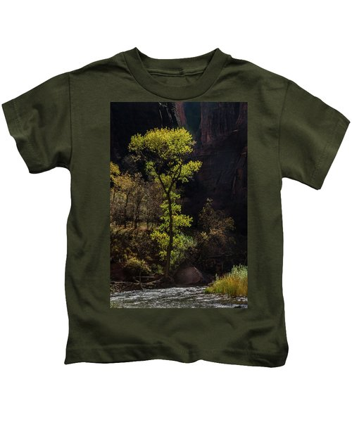 Glowing Tree At Zion Kids T-Shirt