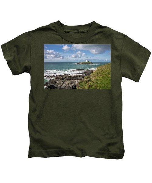 Godrevy Lighthouse 3 Kids T-Shirt