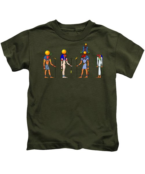 Gods And Goddess Of Ancient Egypt Kids T-Shirt
