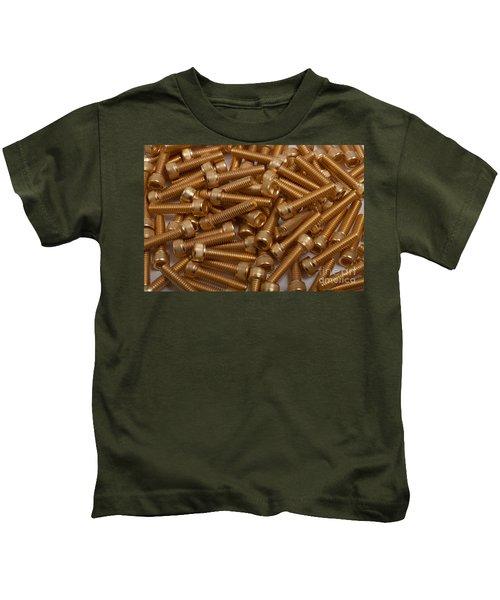 Gold Plated Screws Kids T-Shirt