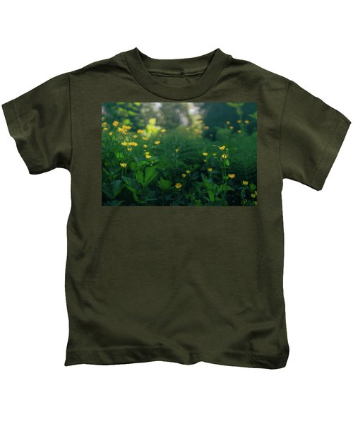 Golden Blooms Kids T-Shirt