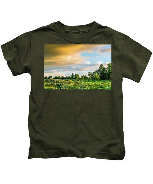 Golden Clouds Kids T-Shirt