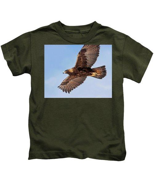 Golden Eagle Flight Kids T-Shirt