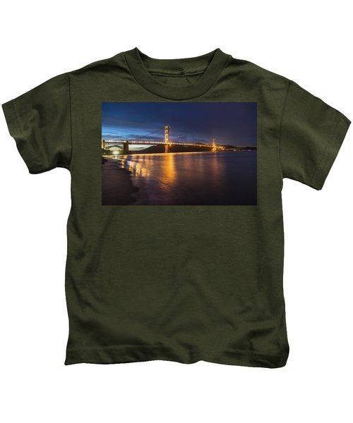 Golden Gate Blue Hour Kids T-Shirt