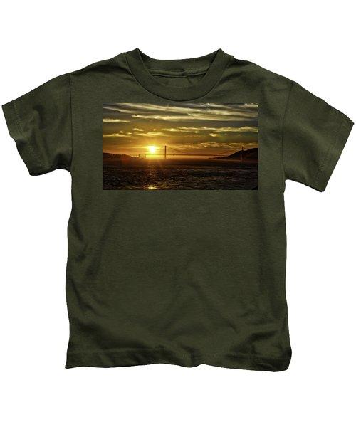 Golden Gate Sunset Kids T-Shirt