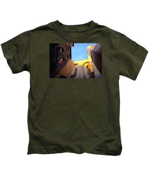 Golden Light In Avignon Kids T-Shirt