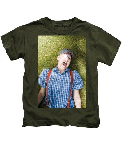 Golf Ball In Eye Kids T-Shirt