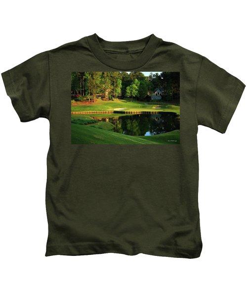 Golf The Landing #3 Reynolds Plantation Lake Oconee Ga Art Kids T-Shirt