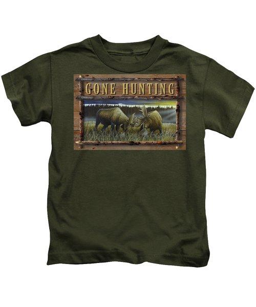 Gone Hunting - Locked At Lac Seul Kids T-Shirt