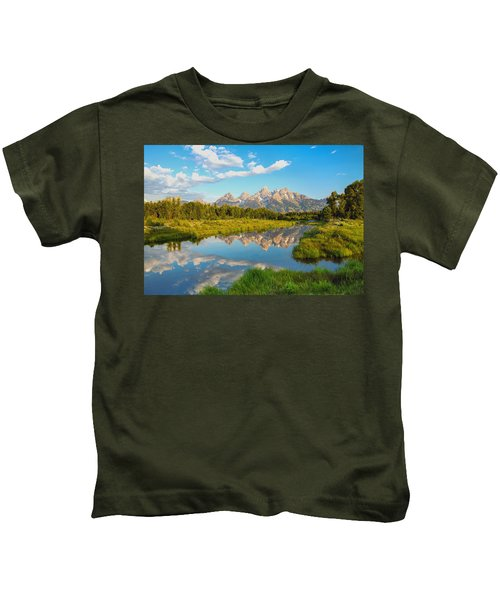 Good Morning Tetons Kids T-Shirt