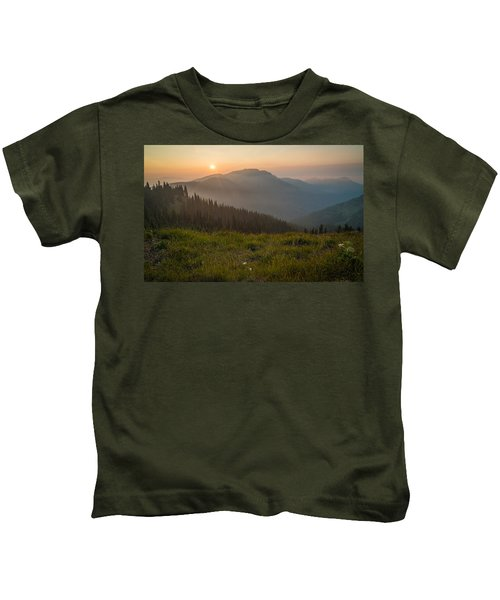 Goodnight Mountains Kids T-Shirt