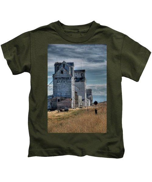 Grain Elevators, Wilsall Kids T-Shirt