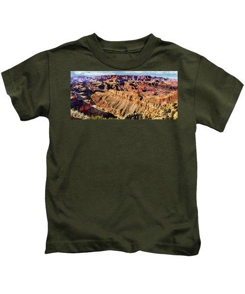 Grand Canyon Afternoon At Lipan Point Kids T-Shirt
