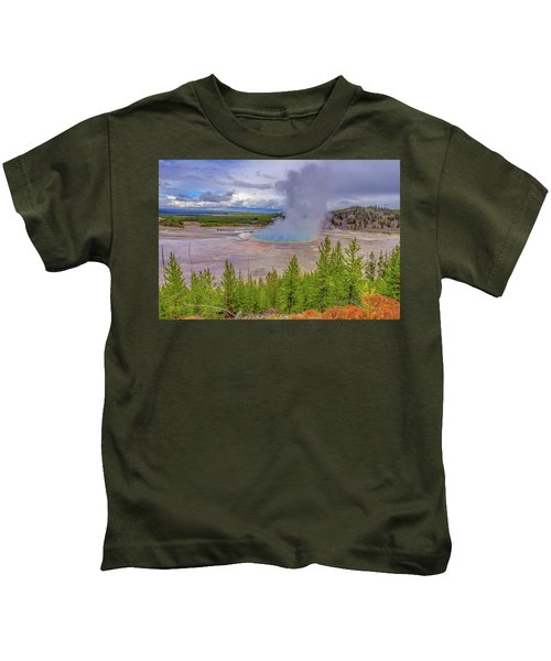 Grand Prismatic Spring Overlook Yellowstone Kids T-Shirt