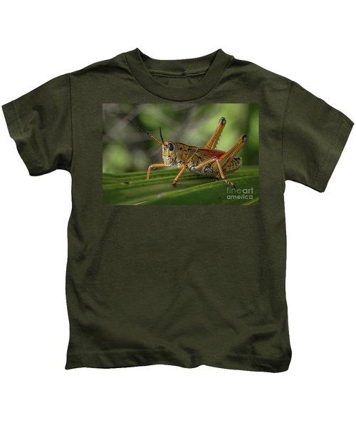 Grasshopper And Palm Frond Kids T-Shirt
