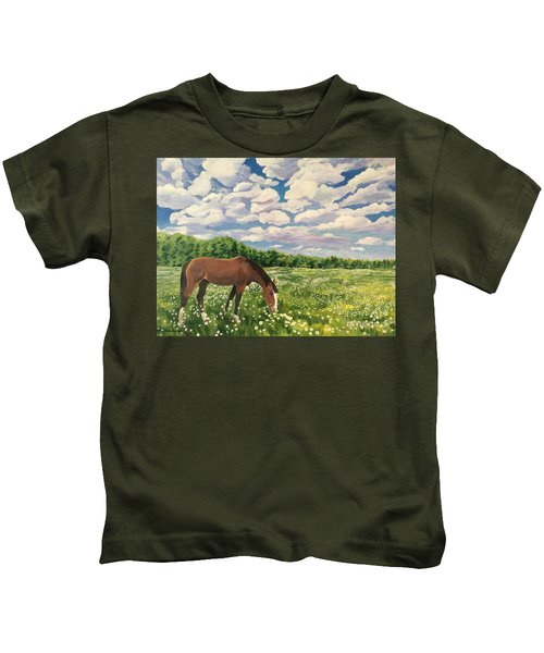 Grazing Among The Daisies Kids T-Shirt