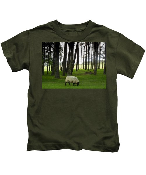 Grazing In The Woods Kids T-Shirt