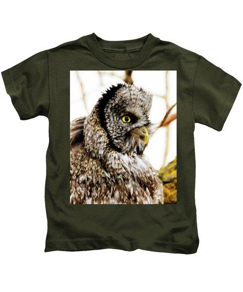 Great Gray Owl Kids T-Shirt