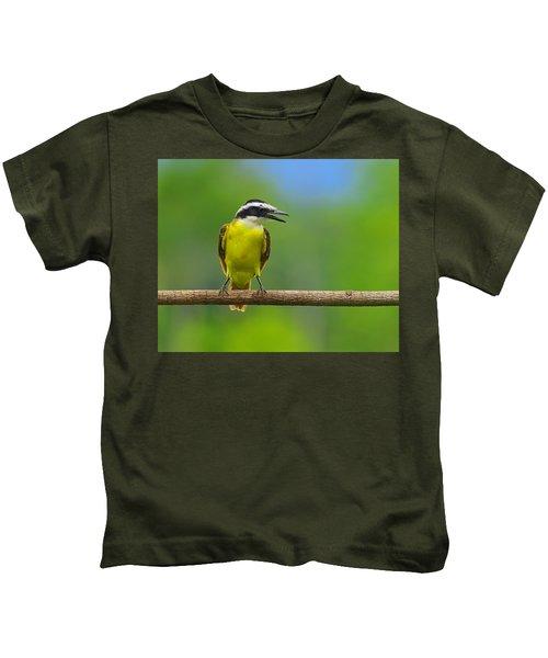Great Kiskadee Kids T-Shirt by Tony Beck