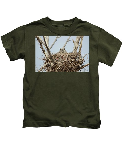 Greathornedowl3 Kids T-Shirt