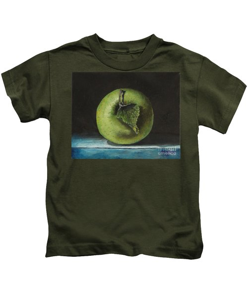 Green And Yellow Apple Kids T-Shirt