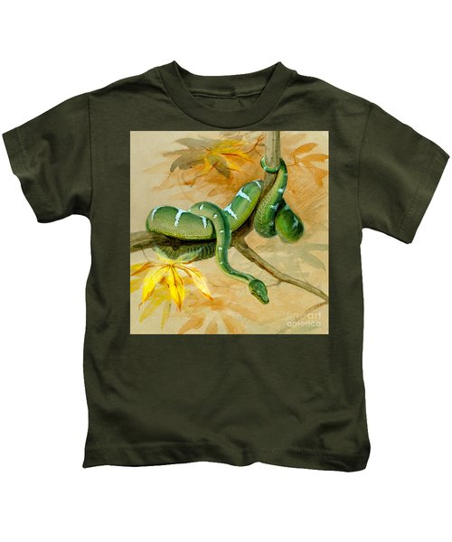 Green Boa Kids T-Shirt