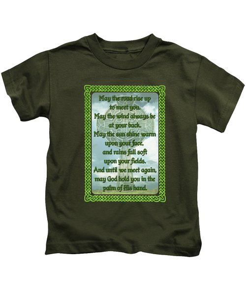 Green Irish Blessing Kids T-Shirt