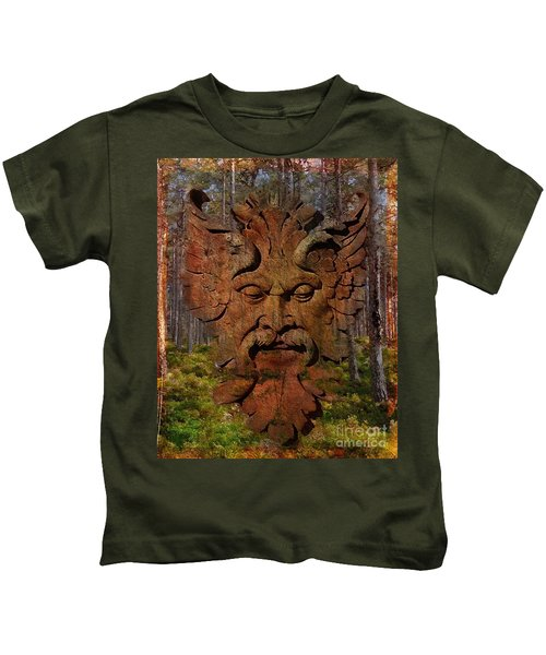 Green Man Of The Forest 2016 Kids T-Shirt